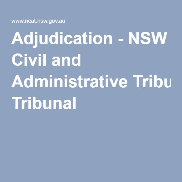 Adjudication - NSW Civil and Administrative Tribunal
