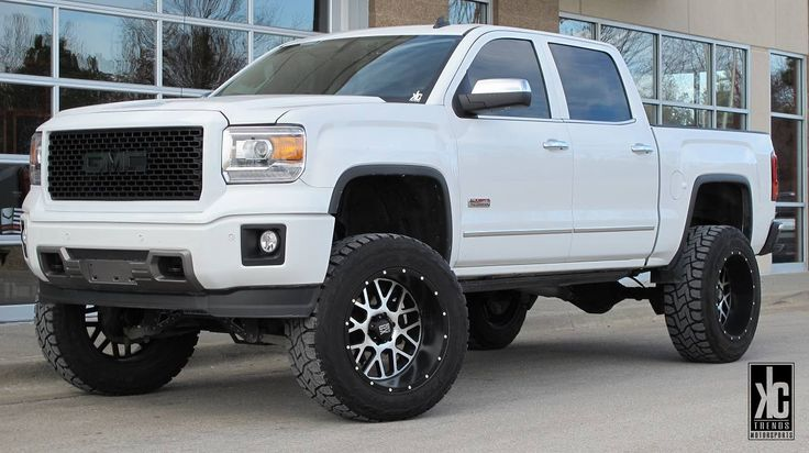 Pickup Truck Steps >> XD Grenade wheels mounted with Toyo Open Country RT tires, lift kit, AMP power steps, LED ...