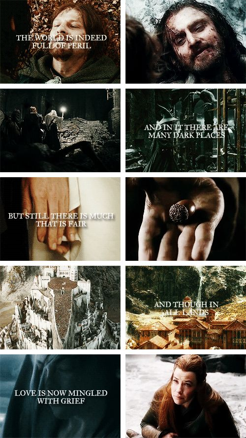 It grows perhaps the greater. #lotr #thehobbit