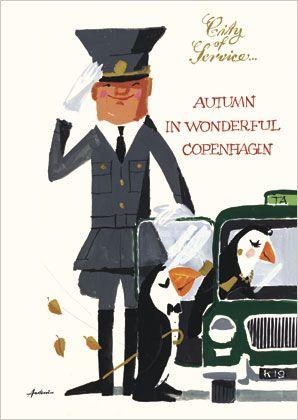 Autumn in Wonderful Copenhagen - City of Service poster by Ib Antonis