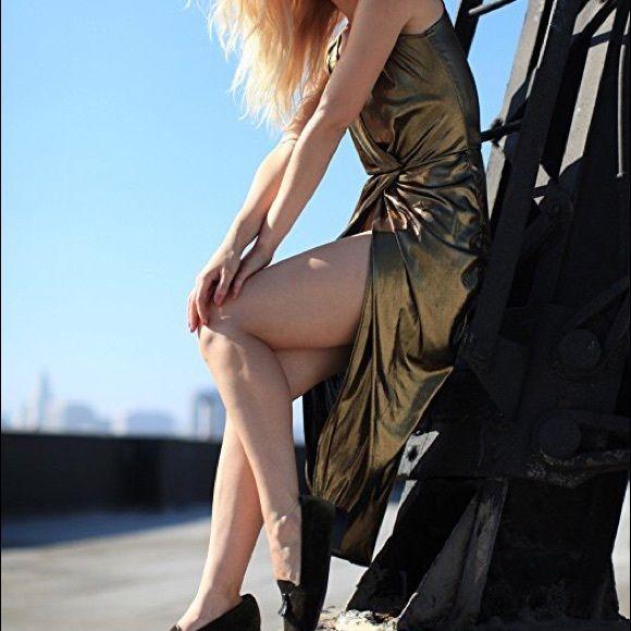 American Apparel Dresses & Skirts - American Apparel Siren Gold Metallic Dress XS