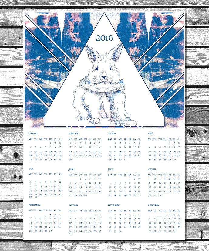 """Calendar 2016 On sale On my Etsy Account """"NaouruPrintable"""" Instant Download! :D"""