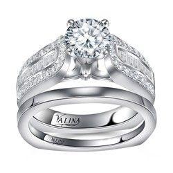 #Valina Wedding Ring R036W-R036BW