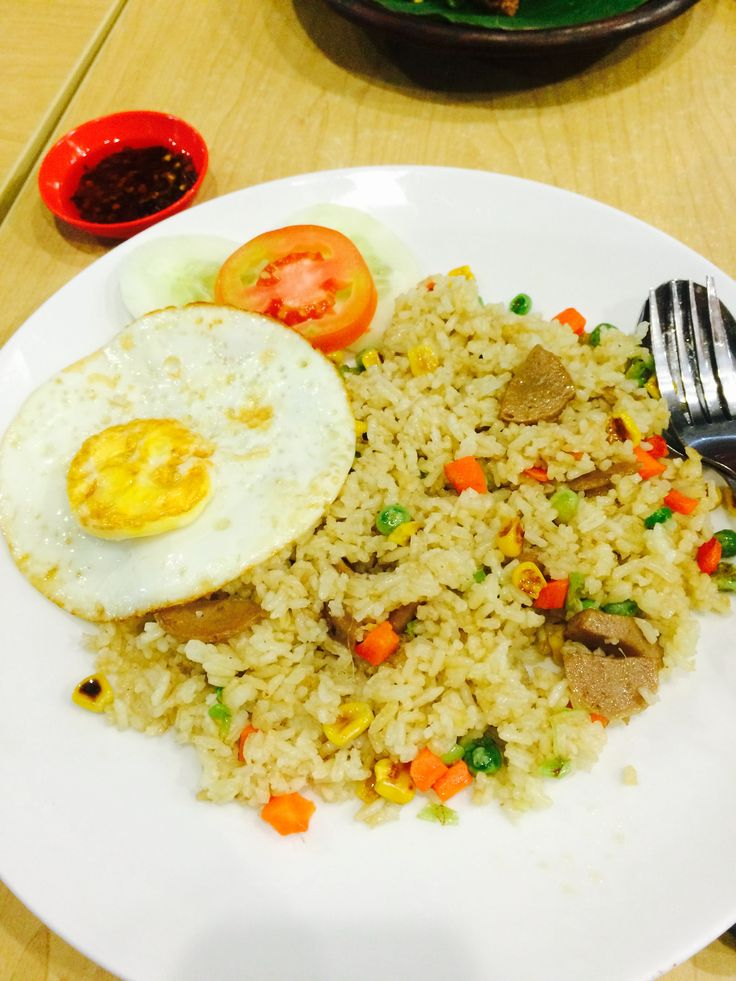 Nasi goreng promo for lunch from Tjuan on food court