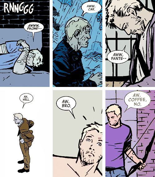 More comic Clint Barton being fantastic. He speaks my language.