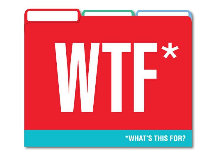 Honest Acronyms File Folders - Fun File Folders by Knock Knock