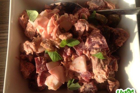 Bietensalade met tonijn