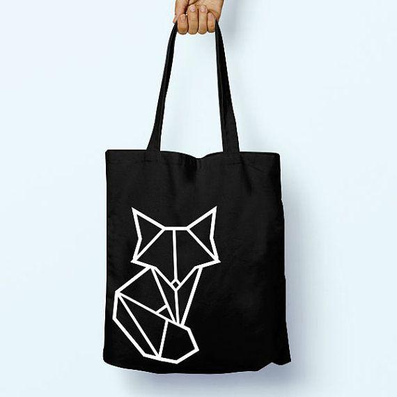Origami Geometric Fox Illustration Drawing by PaperTigersApparel
