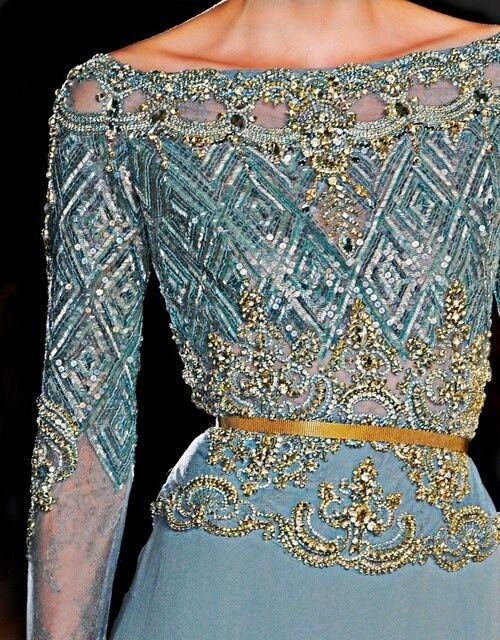 Ellie Saab - Gorgeous colors. The beading is beautiful.