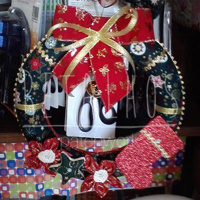 Ref.: CR_NT_06 Coroa de Natal / #Christmas Handmade #Patchwork