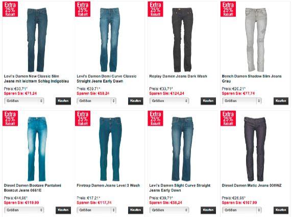 Für die Damen: Levi's, Diesel, Replay, Bench, Voi Jeans für 20€ - 40€ + 5€ VSK - myDealZ.de