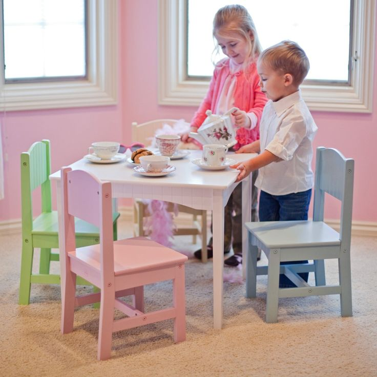 KidKraft Nantucket Pastel Table and Chair Set - Childrens Table and 4 Chairs $111.98