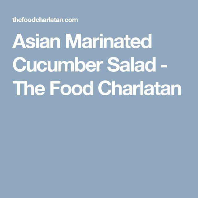 Asian Marinated Cucumber Salad - The Food Charlatan