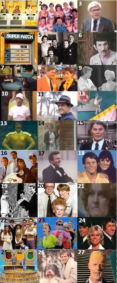 70s/80s TV SHOWS  - Can you name any of these Australian and international TV shows?