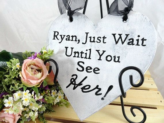 Ring Bearer Pillow Engraved Ring Bearer Sign Rustic by AllWoodToo  $19.99  Click on photo to BUY NOW!  Wedding heart signs are so cute. They are light weight and easy for little children to carry down the aisle. #allwoodtoo has a variety of signs to choose from. Custom orders are welcome!  Click here: allwoodtoo.etsy.com to view more options.