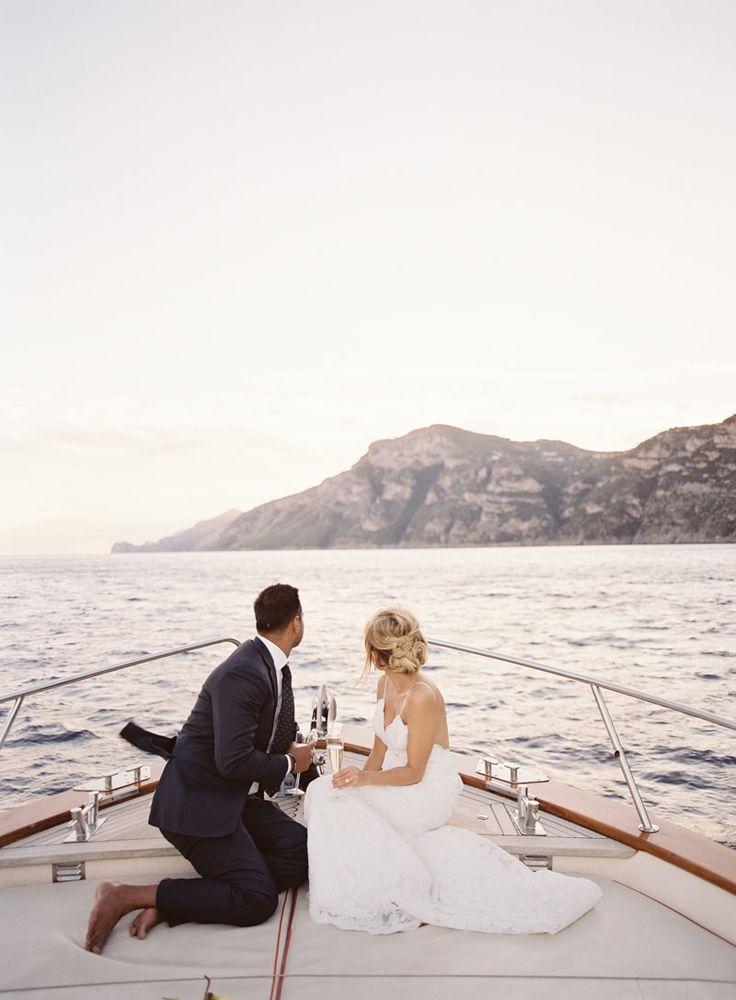 bride and groom from destination elopement in Positano Italy http://www.trendybride.net/destination-elopement-positano-italy/