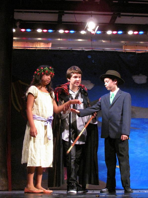"L-R: #Miranda, #Prospero, and #Ferdinand ""O Ferdinand, take my daughter…"" -Summer Camp 2013 #TheTempest #Shakespeare #Kids #SummerCamp #Camp #Acting Camp #DramaCamp #Toronto #Kids #Children #Youth #Education"