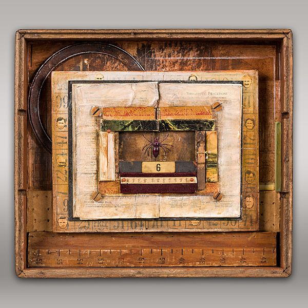 JEROME D'ANGELO - WORK#anothercollection#mixedmedia#collage#painting#alteredbook#boxassemblage#timepiece
