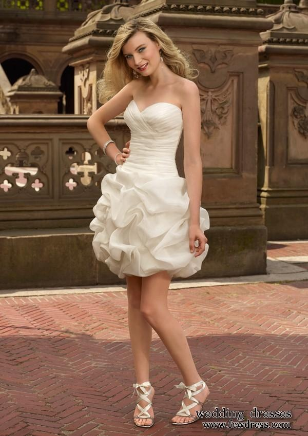 Wedding dress:  Short wedding gown