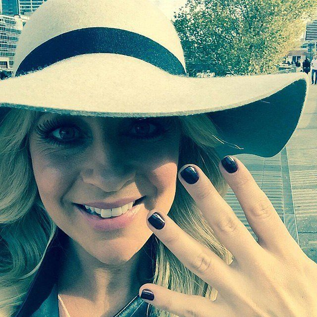 Carrie Bickmore has her nails polished and ready for the Logies mani cam!