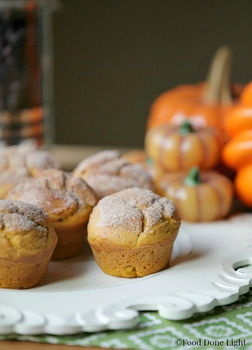 Pumpkin Donuts Cinnamon Sugar Low Calories Eating Breakfast