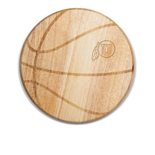 University of Utah Utes Basketball Wine & Cheese Cutting Board