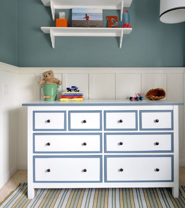 I began this transition from baby room to big boy space several months ago, but I hit a few road blocks along the way.  One of the challenges was finding a proper dresser for my little guy ~ one that provided plenty of storage, complemented the style of his room, and was the proper scale …