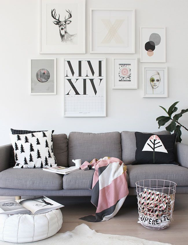 Lanalou Style | Pink, grey and geometric accents | http://lanaloustyle.com