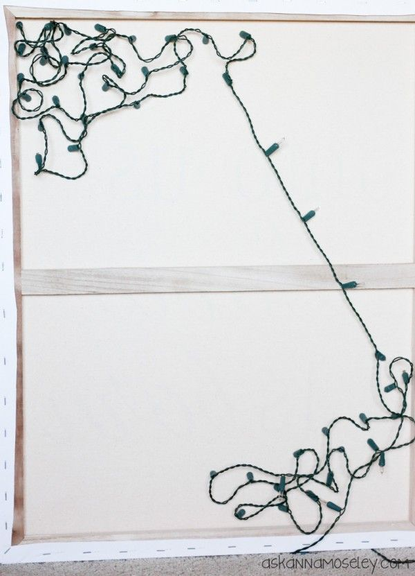 cool way to add stars to a canvas - Pic 2 of 2 - - - Light Up Christmas Canvas - Ask Anna