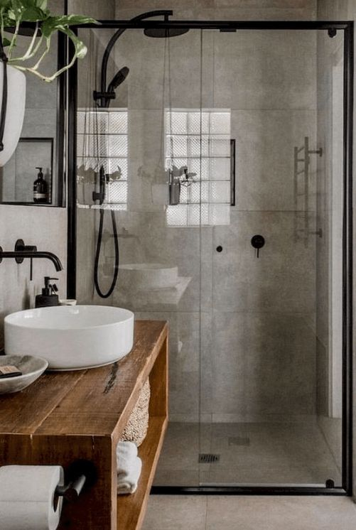 28 Industrial Style Bathrooms Design And Decor Ideas In 2020 Industrial Style Bathroom Bathroom Interior Design Bathroom Styling