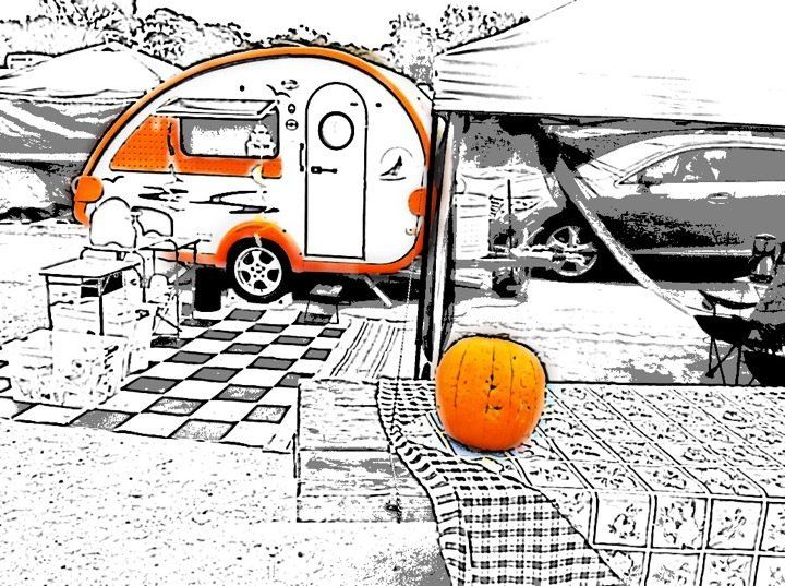 30 best spooky halloween rvs campers images on pinterest spooky halloween halloween camping and halloween ideas - Halloween Trailers