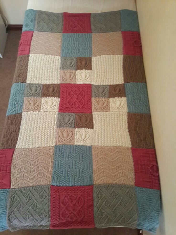 I knitted this blanket as a family heirloom for my grand daughter
