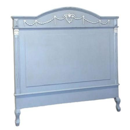 Antique French Blue Headboard, King Size