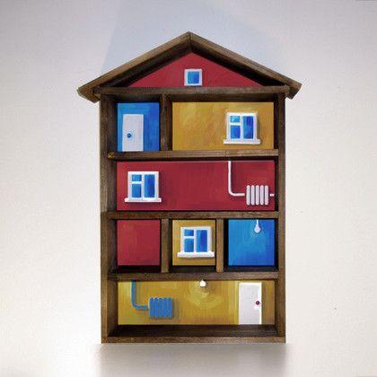 Мебель ручной работы. Ярмарка Мастеров - ручная работа Полка для мелочей «Домик». Handmade.