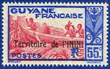 Inini 16 Stamp - Stamp of French Guinea Overprinted - SA IN 16-1 MNH