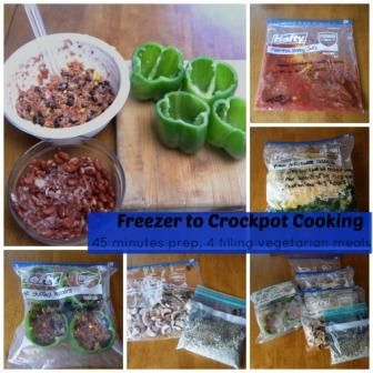 Freezer To Crockpot Cooking| Vegetarian Recipes and Instructions