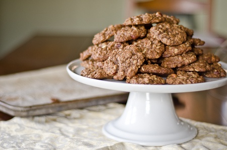 Nutella & oatmeal cookie