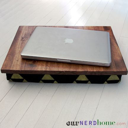 DIY Lap Desk + hand-stamped Legend of Zelda fabric. (DIY holiday geek gift)