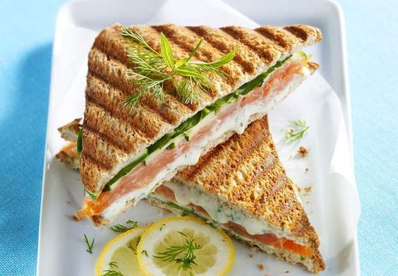 Croque-monsieur au saumon et au BoursinVoir la recette duCroque-monsieur au saumon et au Boursin >>