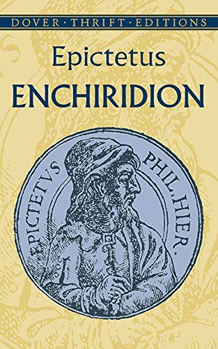 Enchiridion (Dover Thrift Editions) by Epictetus http://www.amazon.com/dp/0486433595/ref=cm_sw_r_pi_dp_jb5Rvb0H1K8Q7