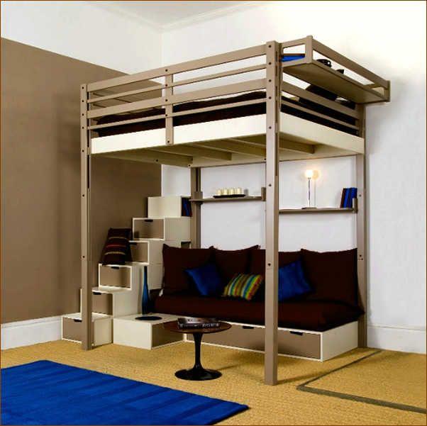 Image Result For Loft Bed King Size Loft Bed Frame Loft Bed