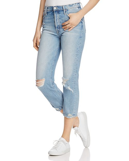 0439559ed8 MOTHER The Tomcat Distressed Crop Jeans in The Confession | Bloomingdale's