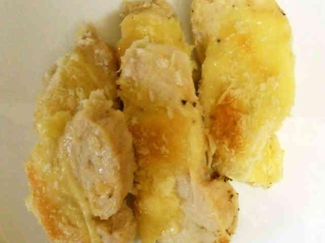 お弁当に!茹で鶏のマヨチーズ焼きの画像