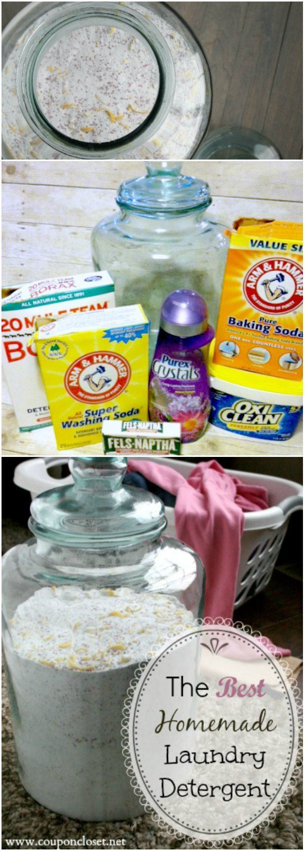 How to make Homemade Laundry Detergent. This easy to make homemade laundry soap is very frugal. Homemade laundry detergent for HE washers too!