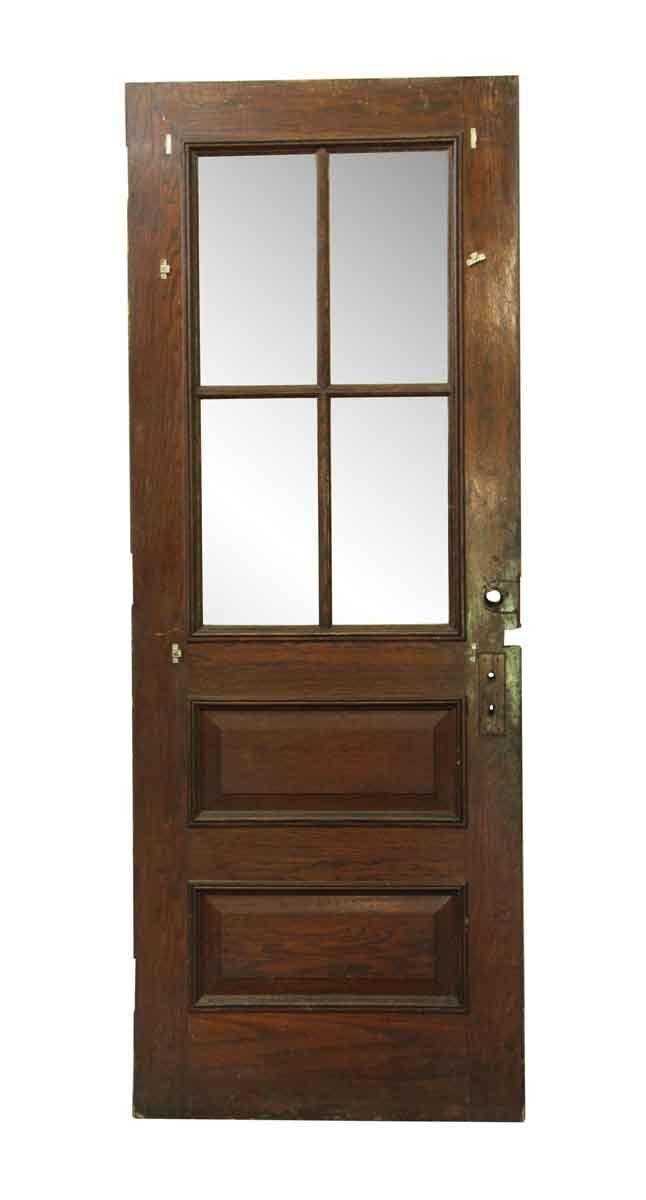 Six Panel Wood Glass Old Entry Door 90 X 34 Entry Doors With Glass Sliding Doors Interior Doors Interior