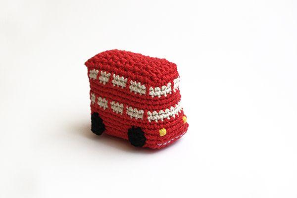 Amigurumi London Bus Inspiration ❥ 4U // hf