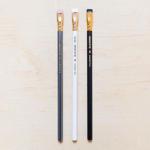 Palomino Firm Graphite 3 Blackwing 602 Pencils Pink Eraser Cedar Wood