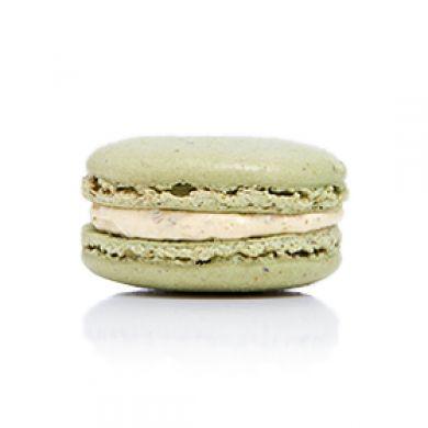 Pistachio Macaron. Pistachio shells filled with a pistachio buttercream
