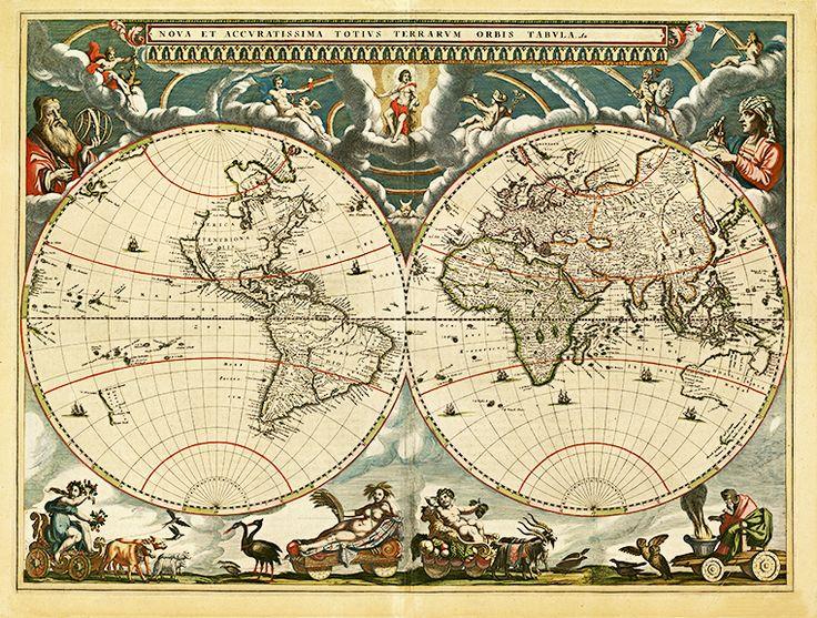 35 best antique world maps images on pinterest antique maps old 1664 old world antique map gumiabroncs Gallery