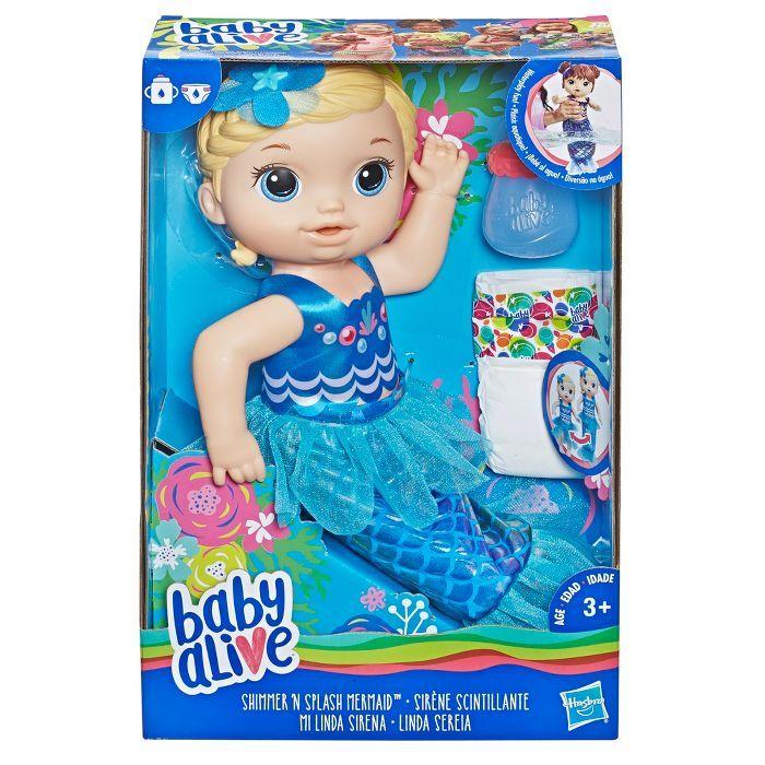 Baby Alive Shimmer N Splash Mermaid Blue Fin Baby Alive Baby Mermaid Baby Alive Dolls